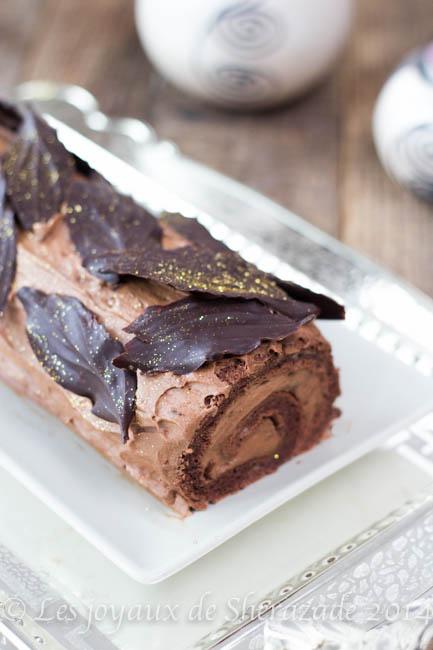 buche au chocolat