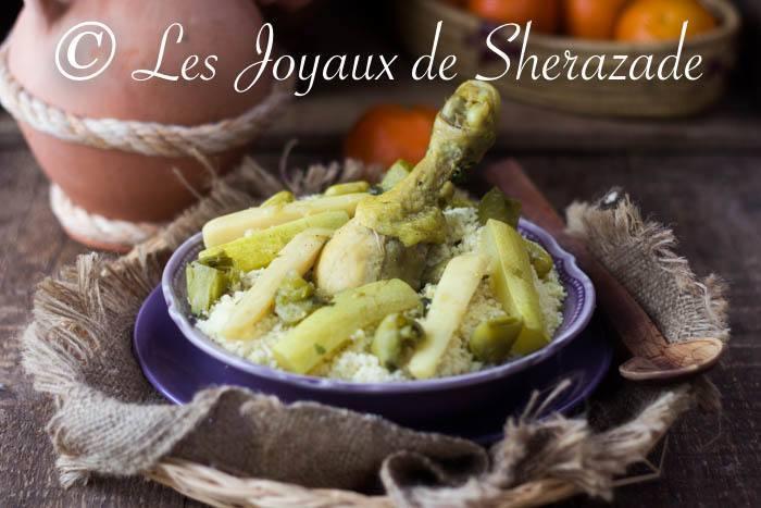 Couscous algérien aux trois légumes