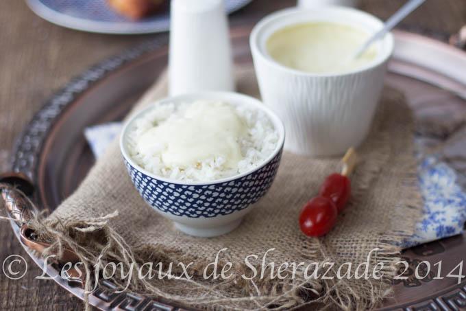 sauce blanche pour riz et poisson