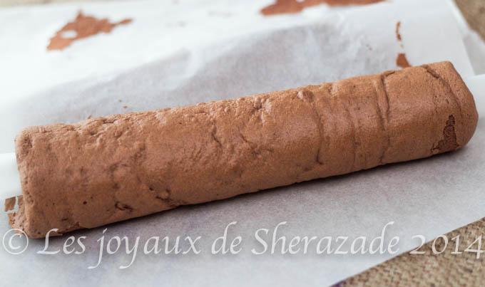 biscuit roulé au cacao