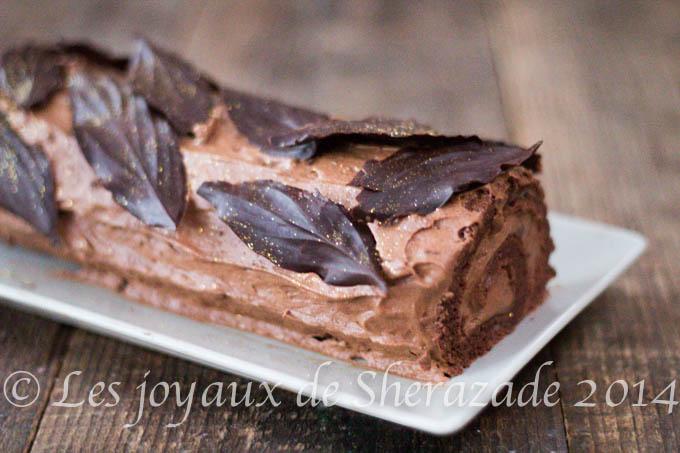 biscuit roulé au chocolat pour buche