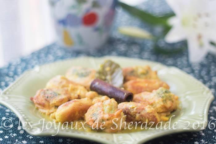 Beignets de brocoli en sauce