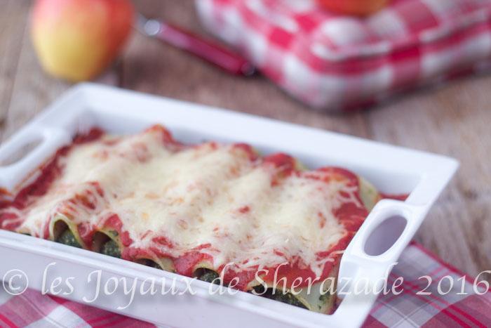 Cannelloni aux épinards et fêta