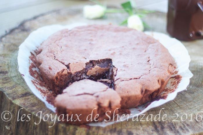 Fondant au chocolat et crème de marrons