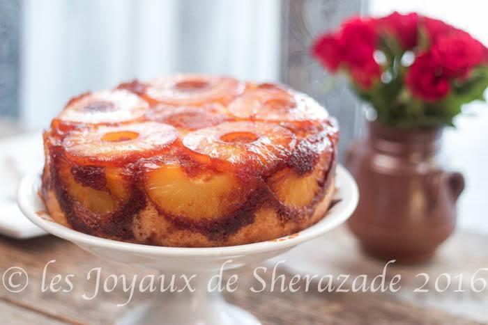 gâteau renversé à l'ananas / la recette facile - les joyaux de