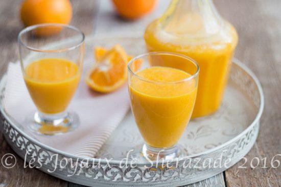 jus d'orange et de carottes