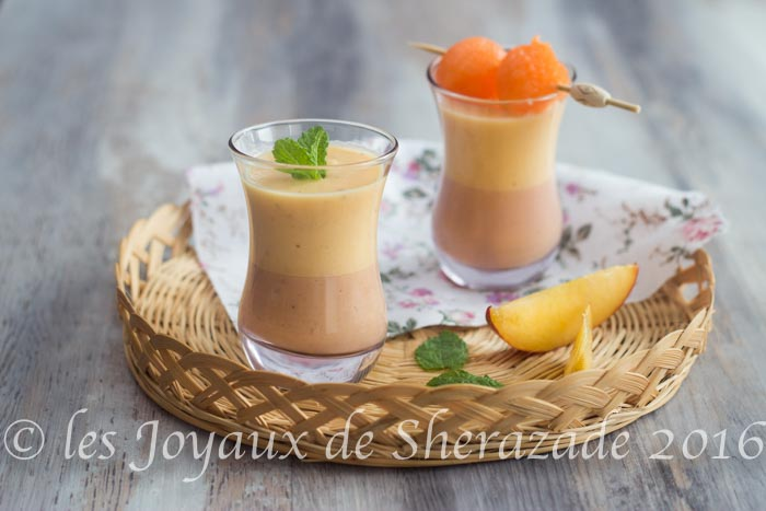Smoothie melon pêches