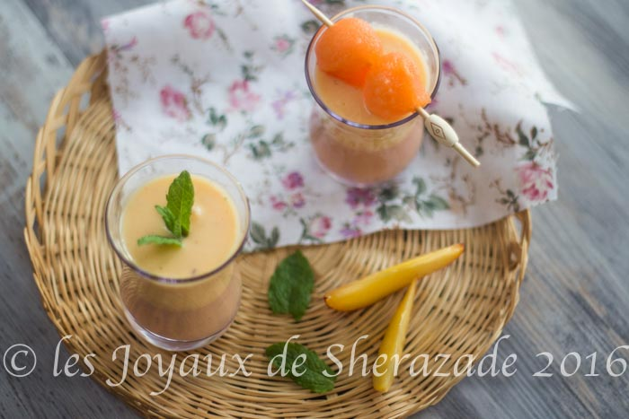 smoothie pèche melon