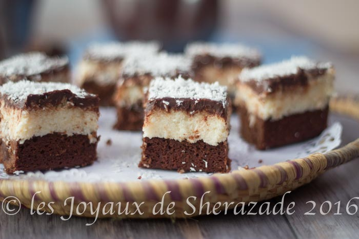 Gateau marocain noix de coco chocolat blanc
