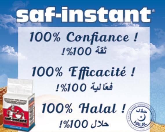 La levure Lesaffre  garantie 100% halal