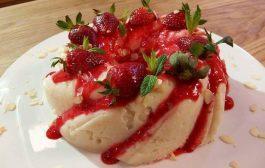 Gâteau au lait à la fraise