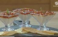 Panna cotta salé au parmesan et au poivron, Lamset Chahrazad