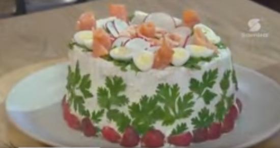 Sandwich cake Smörgastarta, recette suédoise, Lamset Chahrazad