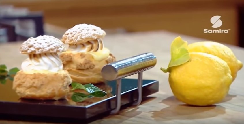 Choux craquelins au citron meringué, Lamset Chahrazad