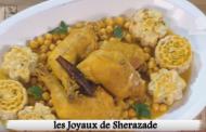 Tajine de poulet aux choux fleurs, Lamset Chahrazad
