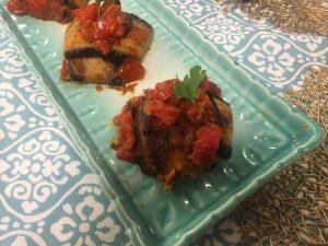 aubergine farcie au pommes de terre