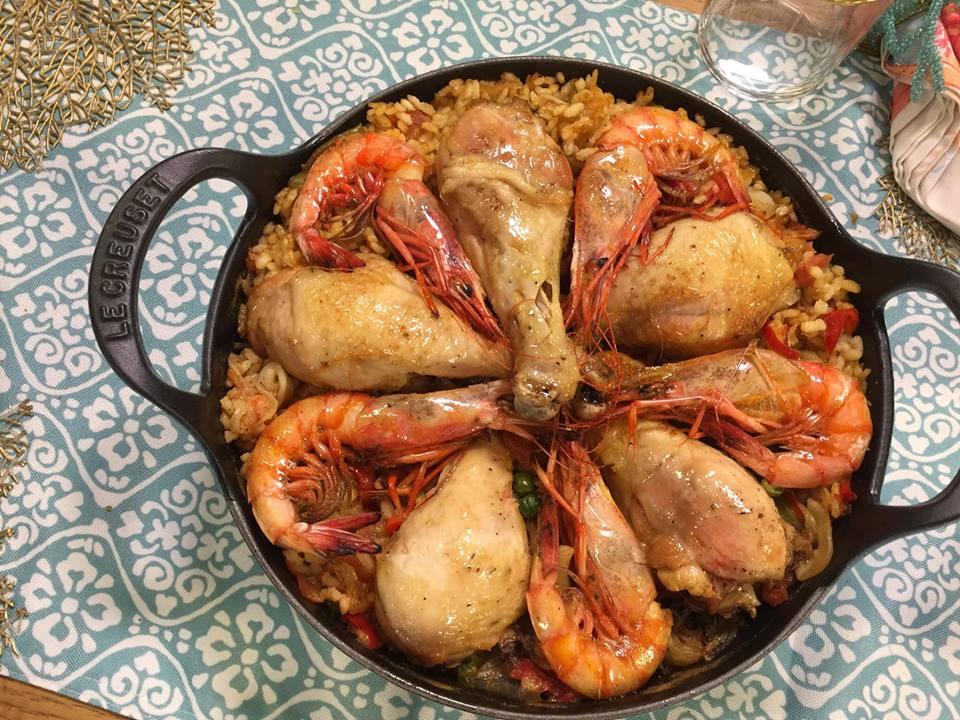 Recette de paella poulet aux fruits de mer facile