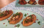aubergines farcies à la purée de pommes de terre