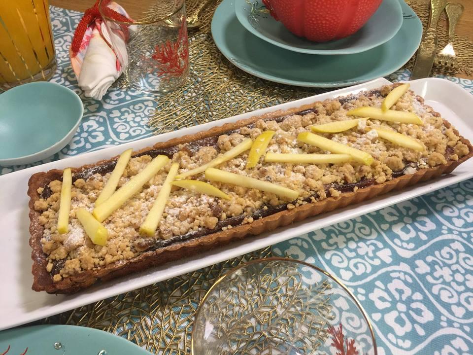 tarte aux pommes au steusel