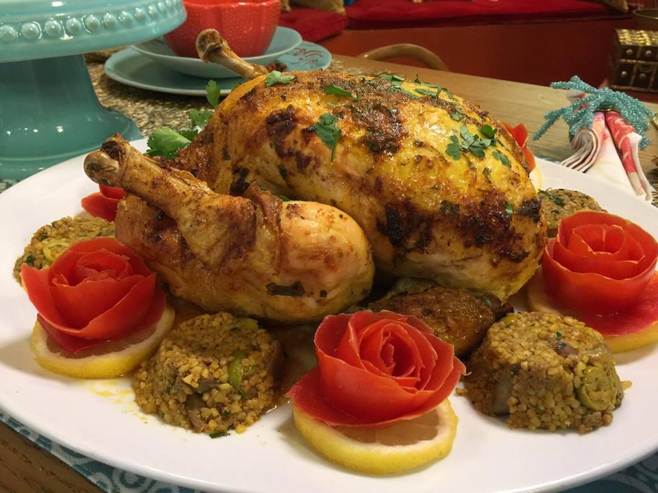 poulet farci au boulgour