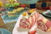 Bûche glacée aux fraises