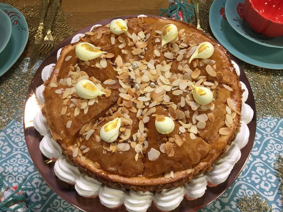 cheesecake façon baklawa