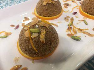 dessert orange semoule