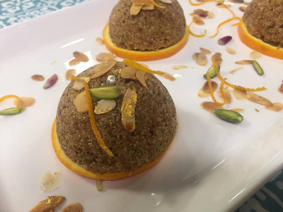 dessert semoule orange