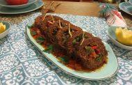 Roulé de viande aux légumes, recette légère en gras