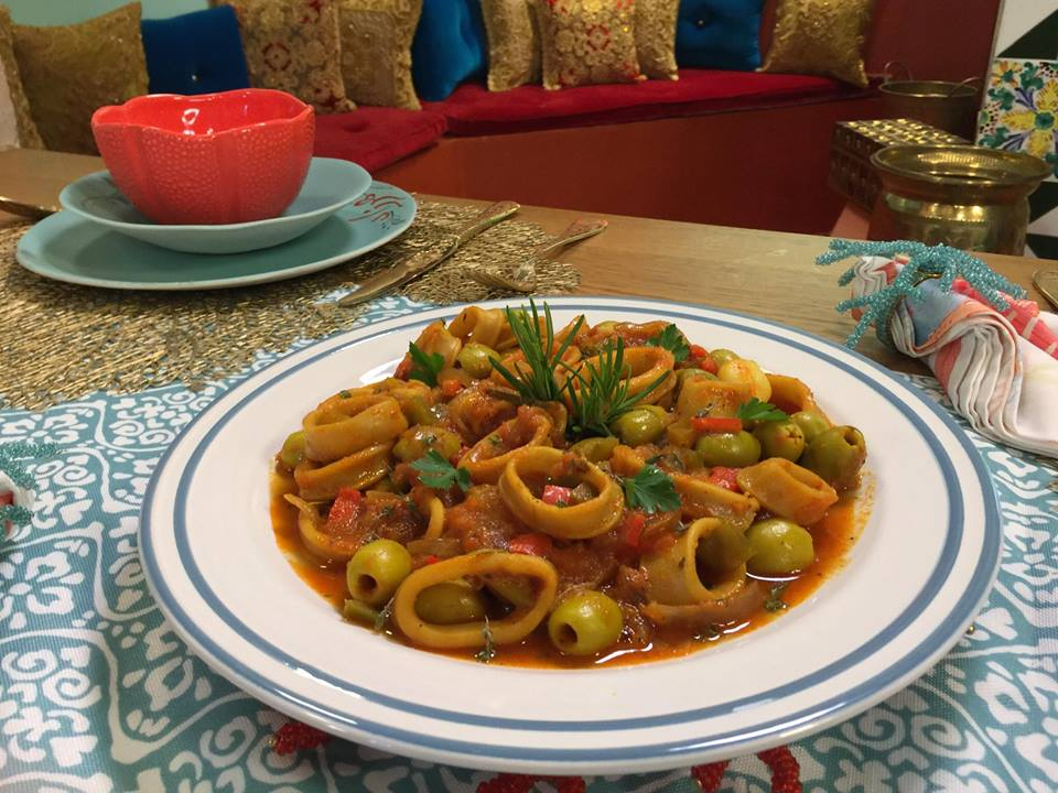 Tajine de calamars aux olives