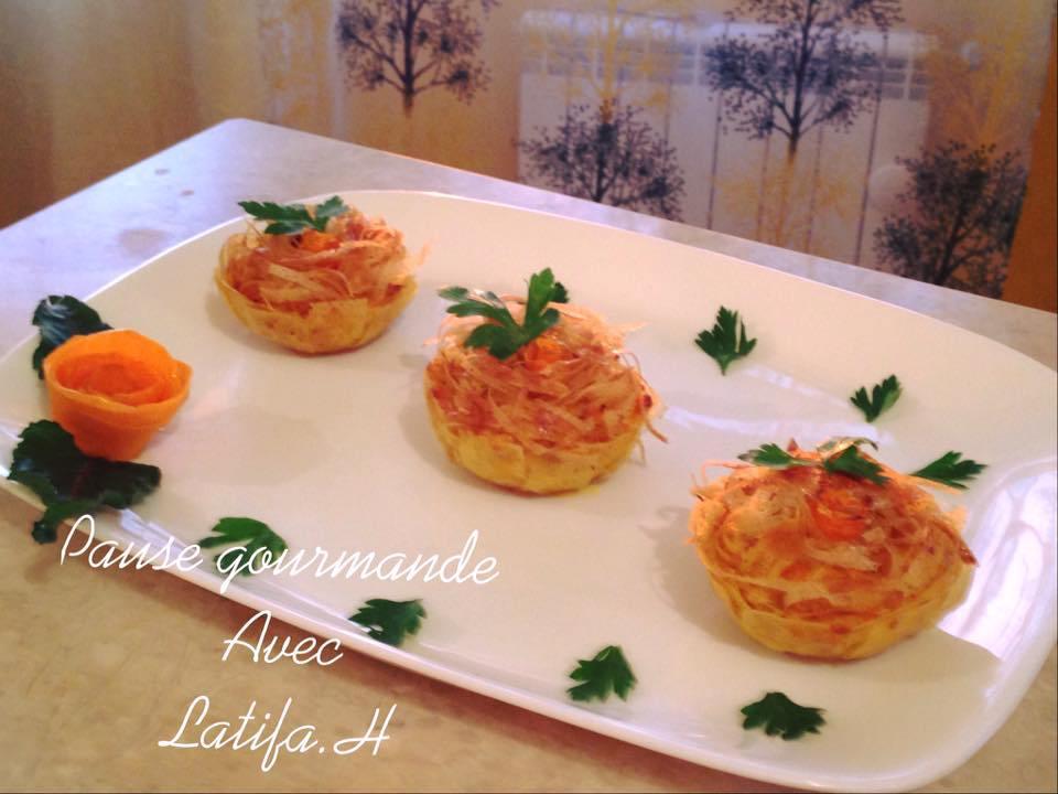 mini tourte carotte