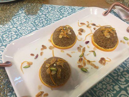 Gâteau de semoule au jus d'orange façon tamina