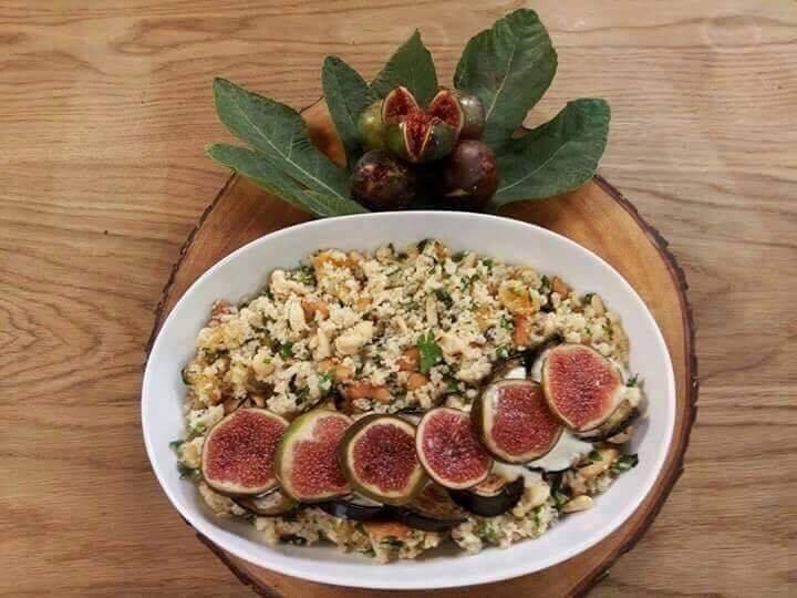 Salade de Boulgour aux aubergines et figues