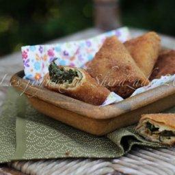 Samoussa de crêpes aux épinards