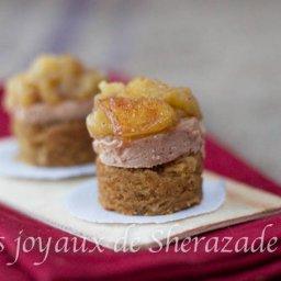 Foie gras au pain d'épices et pommes