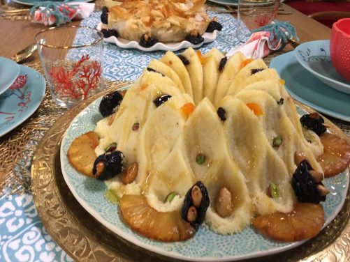 Seffa à la noix de coco, ananas