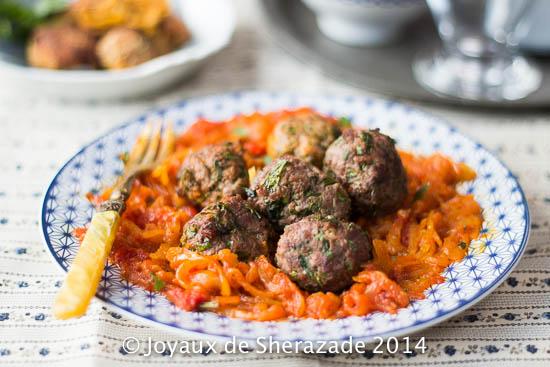 Boulettes de viande hâchée à la tchekchouka