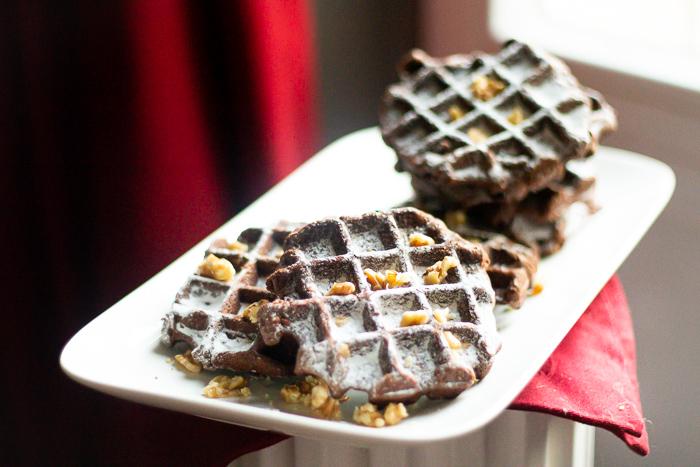 recette de gaufre saveur brownies, un délice