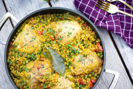 Poulet au riz façon paella