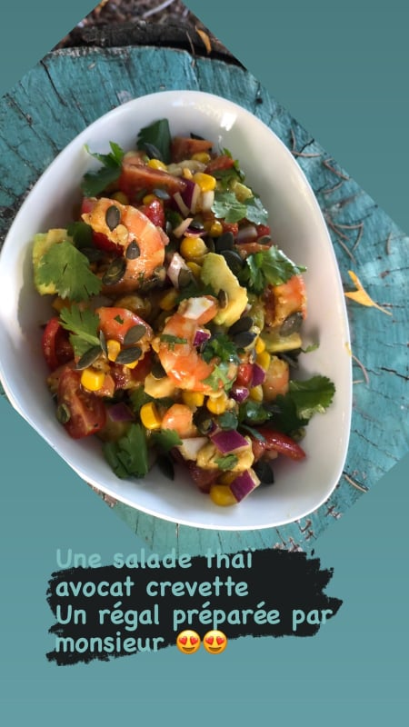 salade Thaï avocat crevettes