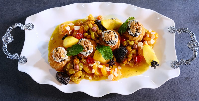 hlou / cuisine algérienne: sfiriya de Tlemcen façon tajine hlou