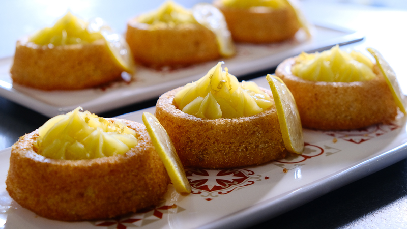 besboussa à la crème au citron