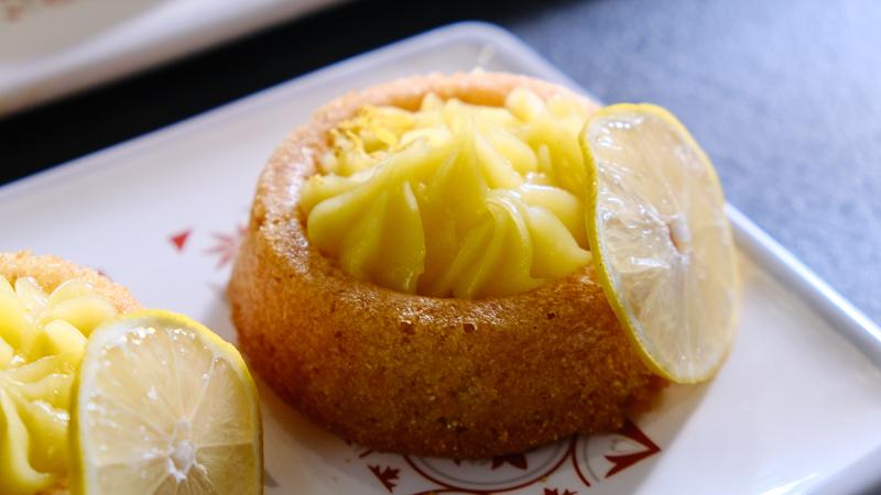 Basboussa à la crème de citron