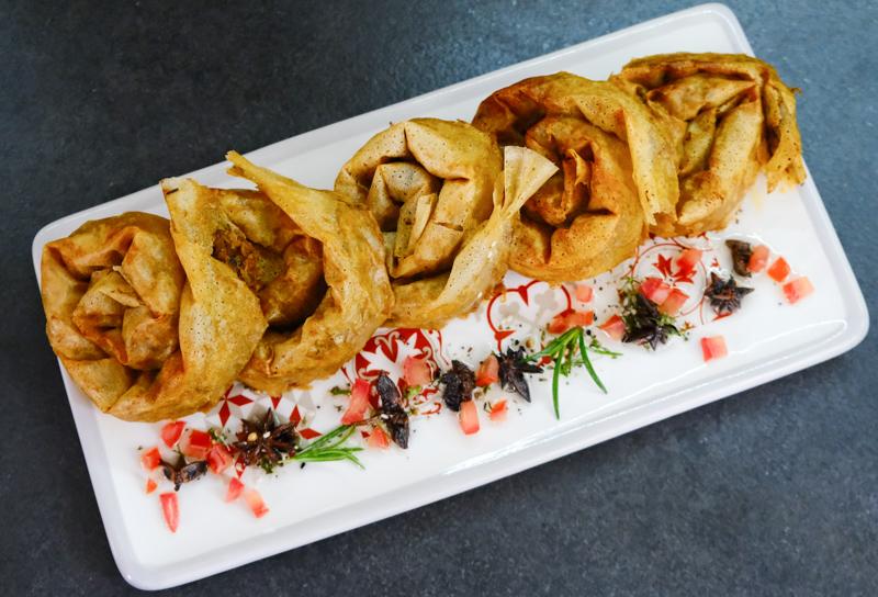 mhancha salée poulet et légumes