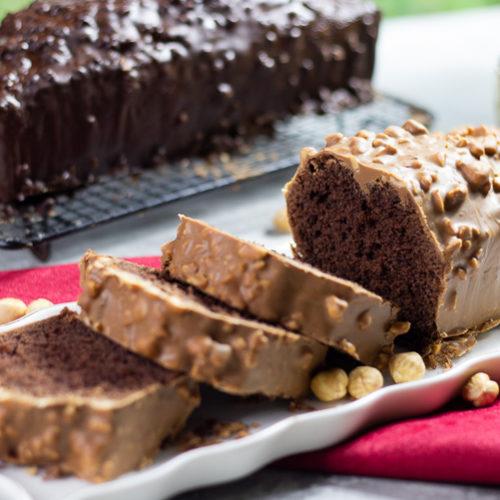 cake au chocolat / glaçage rocher parfait