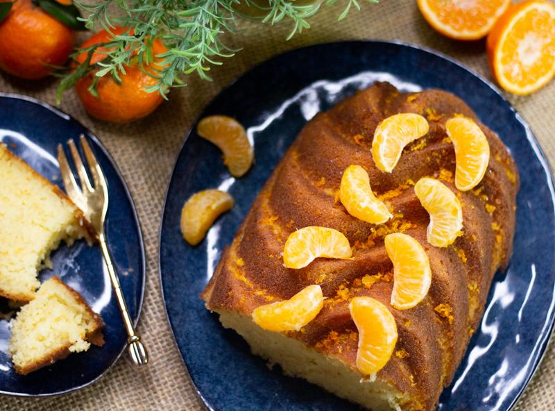 Gâteau moelleux à la clémentine