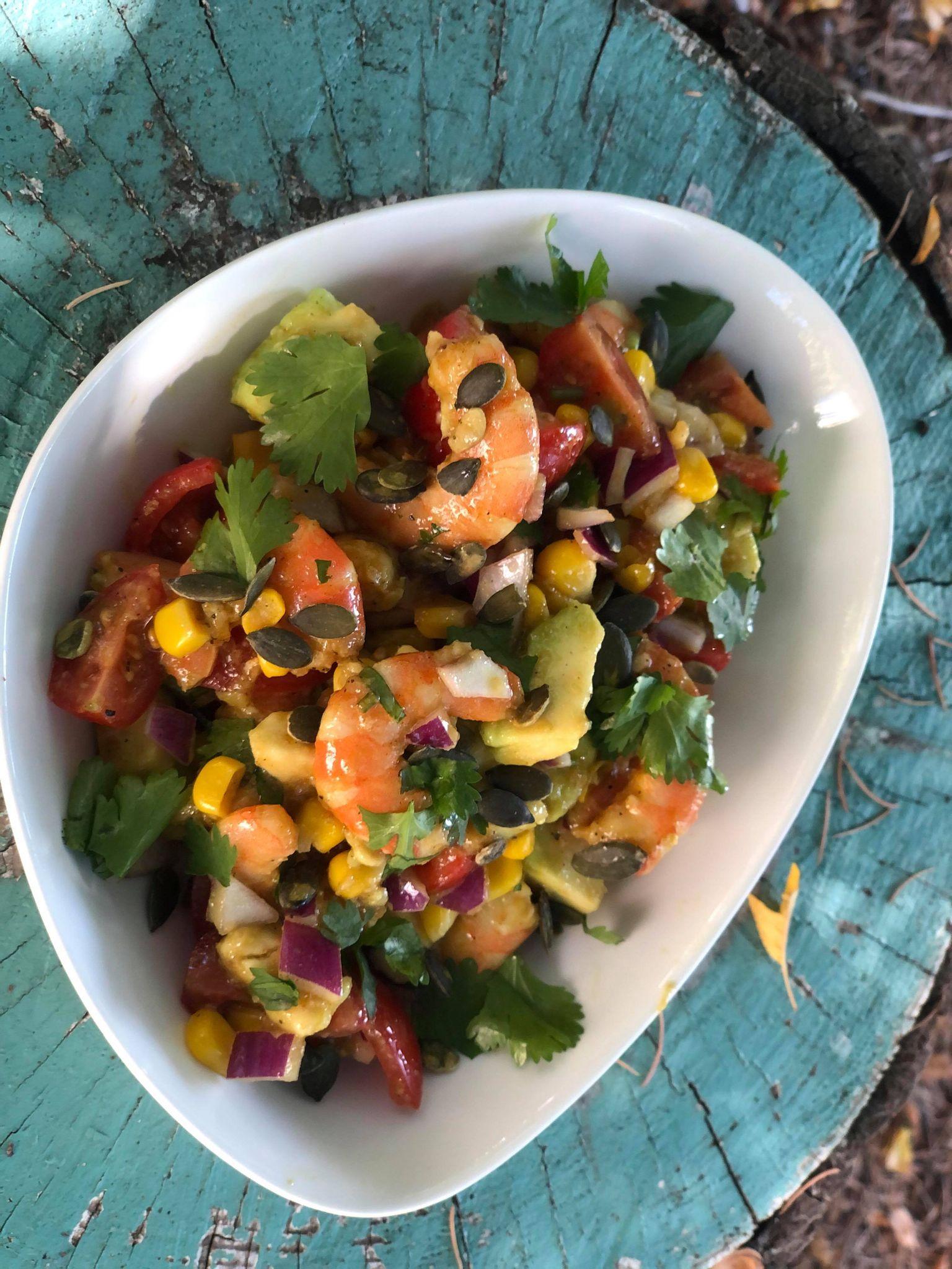 salade Thai crevettes avocat