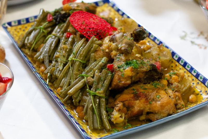 tadjine de poulet aux haricots verts