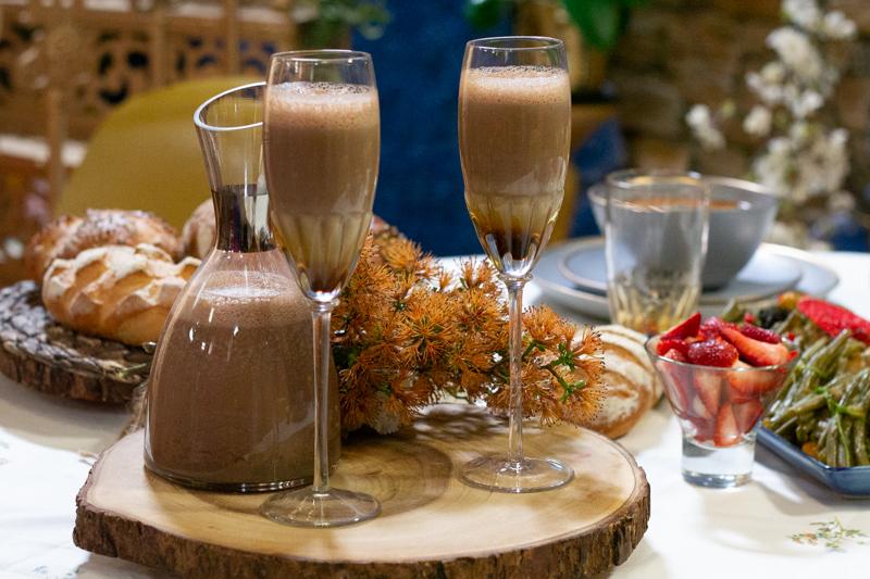 Milkshake dattes-pâte à tartiner chocolat noisettes
