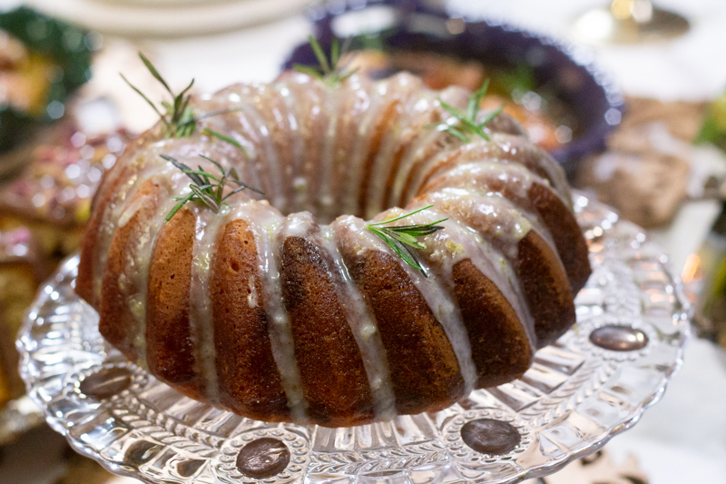 Bundt cake citron huile d'olive romarin